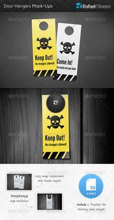 Door Hanger MockUps — Photoshop PSD #mock-up #knob • Available here → https://graphicriver.net/item/door-hanger-mockups/4629646?ref=pxcr