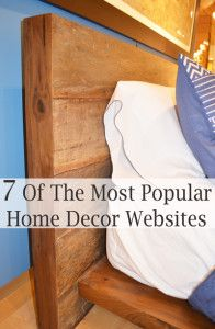 These are my favorite sites to go to when I'm looking for home décor. These are a combination between sites I love the style of, and things I can afford. I love looking at restoration hardware for ...