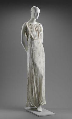 Spring 1987, America - Woman's evening dress by Arnold Scaasi - Silk satin; silk plain weave; rhinestones; plastic
