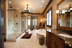 Fantastic Bathroom. Connect it to the his and hers closet.