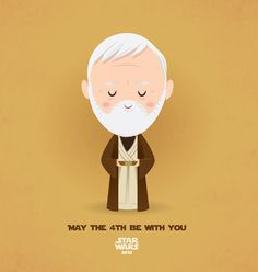 May The Be With You - Obi-wan Kenobi Created by Jerrod Maruyama Happy Star Wars Day! (via tiefighters) Star Wars Love, Cute Disney, Disney Art, Pixar, Happy Star Wars Day, The Force Is Strong, Star Wars Party, Love Stars, Obi Wan