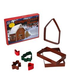 Take a look at this Gingerbread House Cookie Cutter Set by R&M on #zulily today! $10 !!