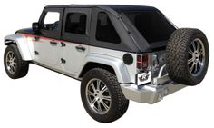 Frameless Sailcloth Soft Top w/ Tint Windows Wrangler JK 4D 2007-2016