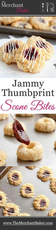Jammy Thumbprint Scone Bites - The Merchant Baker