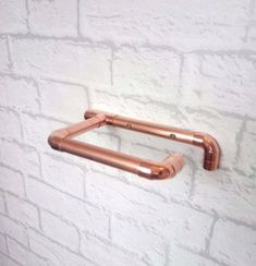 PURE COPPER FIXED TOILET ROLL HOLDER - ROSE GOLD INDUSTRIAL | eBay