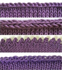 Conquer four different bind-offs (and learn when to use each one) with these detailed photo tutorials from knitting expert Terry Matz. Conquer four different bind-offs.How to Bind Off 4 Different Ways. Picot: cast on bind off To Have An Optimal Ar Knitting Help, Loom Knitting, Knitting Stitches, Hand Knitting, Binding Off In Knitting, Vogue Knitting, Finger Knitting, Knitting Machine, Vintage Knitting