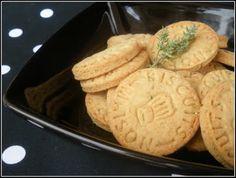 Biscuits maison salés vache qui rit et thym