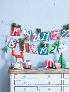 """Druckvorlage für die Adventkalendertüten gespeichert unter """"Adventskalender Vorlage Wohnidee 10-15"""""""