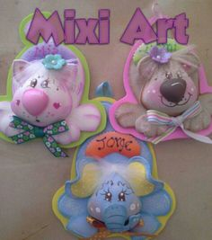 Animales Foam Crafts, Diy And Crafts, Crafts For Kids, Corpus Christi, Ideas Para, Initials, Polymer Clay, Projects To Try, Baby Shower