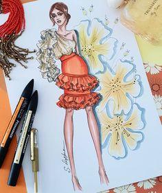 Este posibil ca imaginea să conţină: 1 persoană Dress Design Drawing, Dress Design Sketches, Fashion Design Sketchbook, Fashion Design Portfolio, Fashion Design Drawings, Fashion Sketches, Art Sketches, Fashion Sketch Template, Fashion Figure Drawing