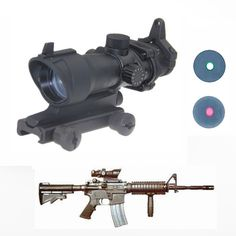 Trijicon ACOG 1x32 Green Red dot Scope with red dot sight Tactical Shooting Hunting scope