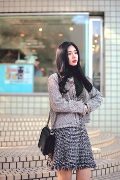 F/W daily 2017 feminine& classy look How To Look Classy, Beautiful Models, Fashion Outfits, Style Fashion, Korean Fashion, Fashion Online, Autumn Fashion, Feminine, Asian