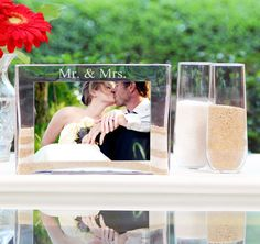 Sand Ceremony Photo Vase Unity Set Is The Perfect Alternative To Traditional Candle Will Celebrate Your Two Lives Joining
