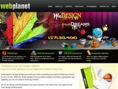 Web planet's unique designs provide you with everything you need to build your brand to new levels. With the finest designs incorporating company branding, typography and usability you do not need to look any further