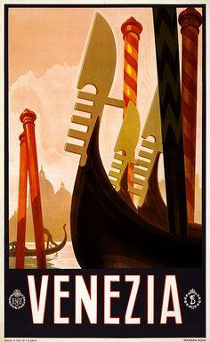 venezia travel poster, c. 1920.