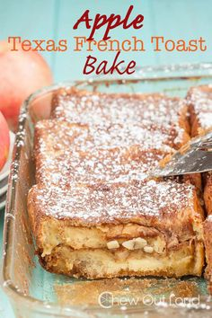Bake thick, Texas toast with chunks of apple and apple butter for a sweeter twist on French toast. Get the recipe at Chew Out Loud.   - Delish.com