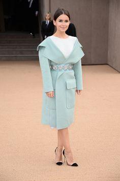 Miroslava Duma Burberry Prorsum London Fashion Week autumn winter 2014-15 #LFW #StreetStyle