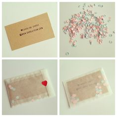 Perhaps good for a party business: confetti with business card