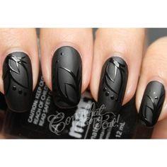 Black nails #nailart