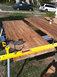 butcher block countertops DIY (useful for an island or outdoor workspace?)