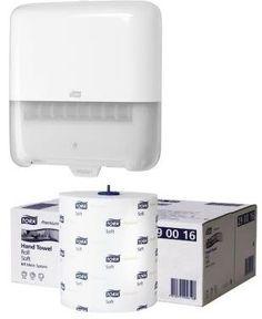 Pachet promotional format din Dispenser profesional Tork Elevation 551000 si un bax de hartie rola Tork Advanced x 6 role 290016.