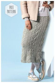 c6319244be8a Women skirt with a relief pattern  women  skirts  crochet  knitting   knittingpatterns