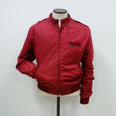 Members Only Jacket Dark Red red, vintage, vintage fashion