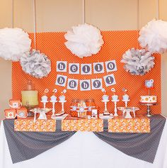 One of my favorite baby boy baby showers I've seen! So fun and modern!