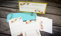 Modern Whimsy save the date