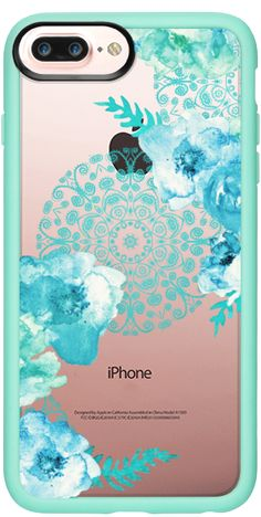 Casetify Protective iPhone 7 Plus Case and iPhone 7 Cases. Other Pattern iPhone Covers - Mint Spring by  Monika Strigel | Casetify