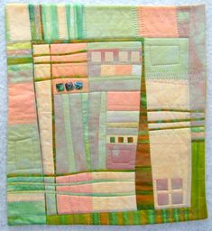 Shore Breeze art quilt wall hanging by MelodyJohnsonQuilts on Etsy