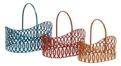 Contemporary And Modern Style Metal Basket Set Of 3 Home D | lamp | lighting, furniture | accents, home decor | accessories, wall decor, patio | garden, Rugs, seasonal decor,garden decor,home decor & accessories