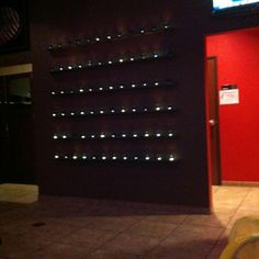 Wall of tea lights. Love!!
