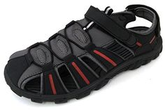 M-050001 Men's Sport Sandals Hiker Adjustable Velcro Strap Close Toe Waterproof Biker Water Sport Trail Beach Walking Hiking Summer Outdoor Shoes (7 D(M) US, Black / Grey) EU http://www.amazon.com/dp/B00LDY0GYC/ref=cm_sw_r_pi_dp_4Pi8tb0HKQC9F