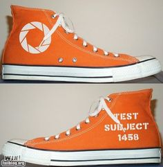 Portal canvas shoes. :D