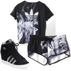 Untitled #8 by luv-devonne-style on Polyvore featuring adidas