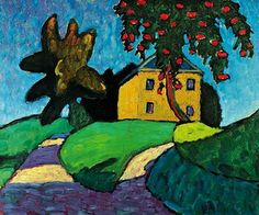 Gabriele Münter (19 February 1877–19 May 1962) Yellow House with Apple Tree.