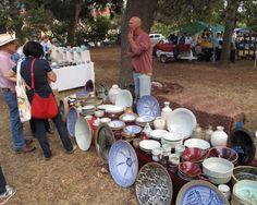 Pots on display, Potter's Market 2015