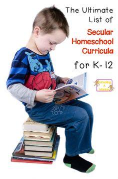Secular homeschoolers need secular homeschool curriculum. We've listed the good…