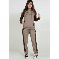 $26.07 Relaxed Casual Long Sleeve Hoodie   Pants Sport Suit For Women