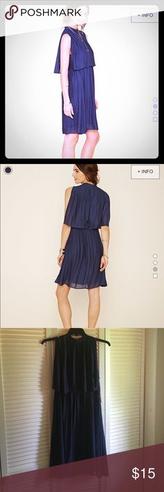 Navy Layered Chiffon Dress Elegant layered dress-never worn and is still listed on Forever 21's website for full price ❤️ Forever 21 Dresses