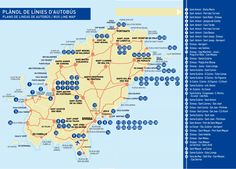 Transportation in Ibiza - How to get around - Rent Ibiza Holiday Villas Ibiza Travel, San Jose, San Antonio Ibiza, Bus Map, Ibiza Holidays, Playa Den Bossa, Ibiza Island, Ibiza Town, Destinations