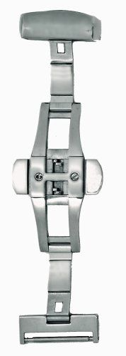 Hadley-Roma 16-mm Stainless Steel Push Button Deployment Clasp