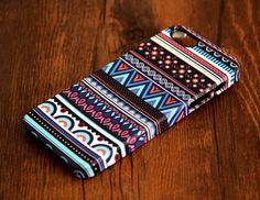 Vintage Aztec Ethnic iPhone 6/5S/5C/5/4S/4 3D Wrap Case