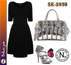 Bolsa Marca Nicole Lee Modelo SE-2939 Color Grey
