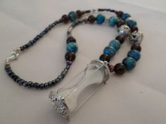 Hourglass Necklace by OnPurposeArtifacts on Etsy, $28.00