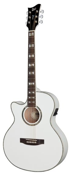 ESP LTD AC-10E LH Xtone Acoustic Guitar for Left Handed Pearl White ...