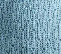 Long lace knitting stitch. More Great Patterns Like This