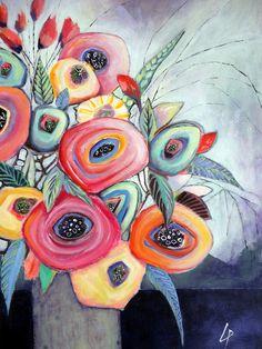 Acryl auf Leinwand 70 x 100 www.gerdalipski.com YouTube tutorials auf: Kanal Gerda Lipski