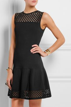 Fendi | Cutout knitted mini dress | NET-A-PORTER.COM